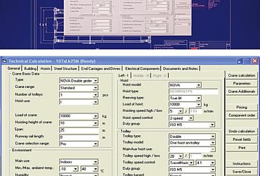 Phần mềm thiết kế & tính toán cầu trục CraneMaster của hãng SWF