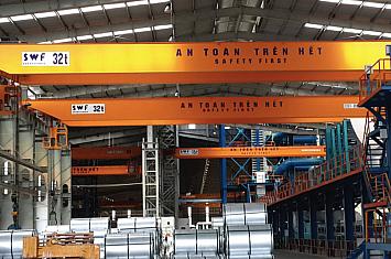Cầu trục 32T tấn x Lk 35m, Nhơn Hội - Bình Định