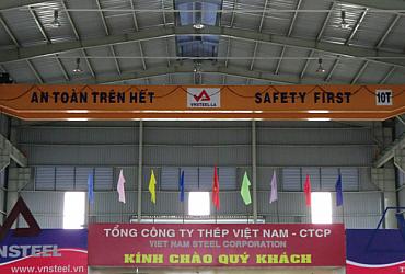 Cầu trục 10 tấn, Nhà xưởng VN Steel Long An