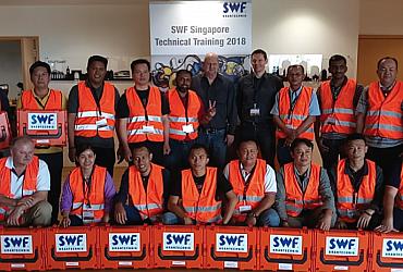 Tập huấn cầu trục tại SWF Singapore 2018